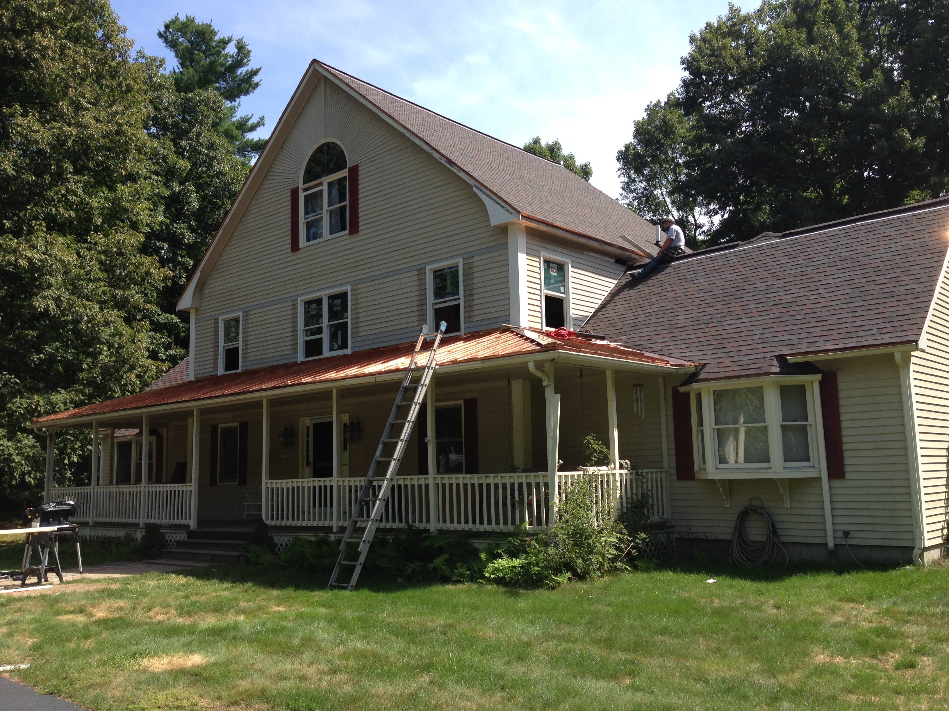 Roofing Replacement With Copper Littleton Ma Quinns
