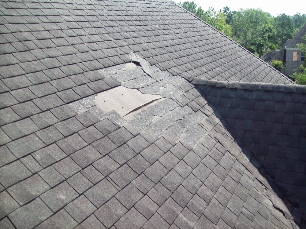 Roofing that's missing a few shingles