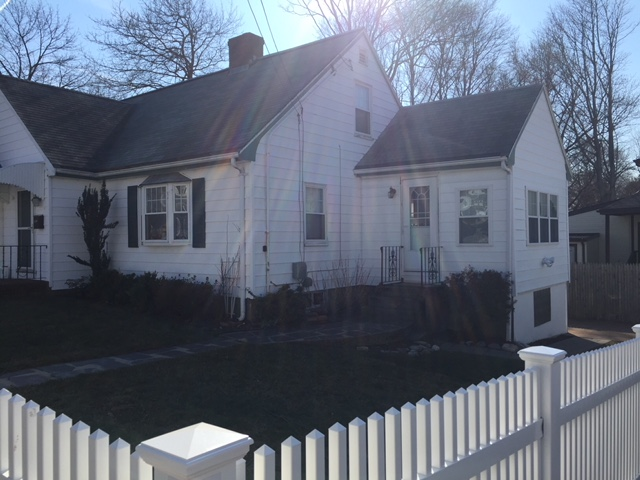 Before siding and roof installation