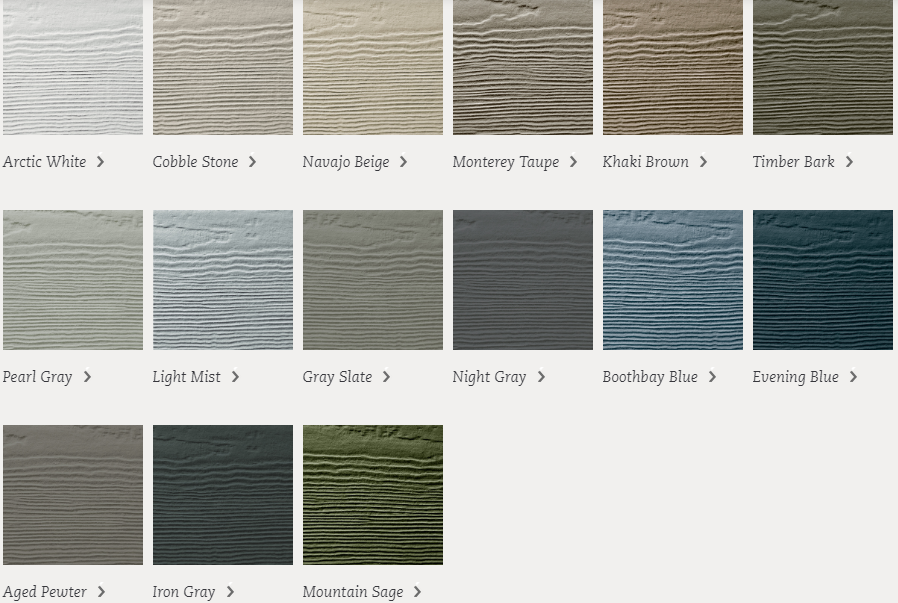 James Hardie Statement Colors