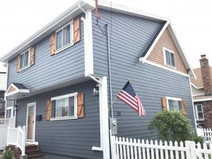 New Siding Side View with Portico