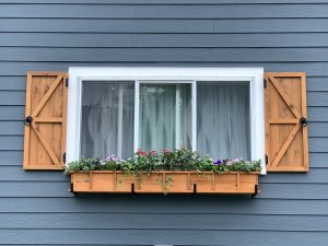 Beautiful New Shutters & Flower Box