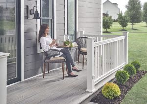 Woman Enjoying Wolf Serenity Decking